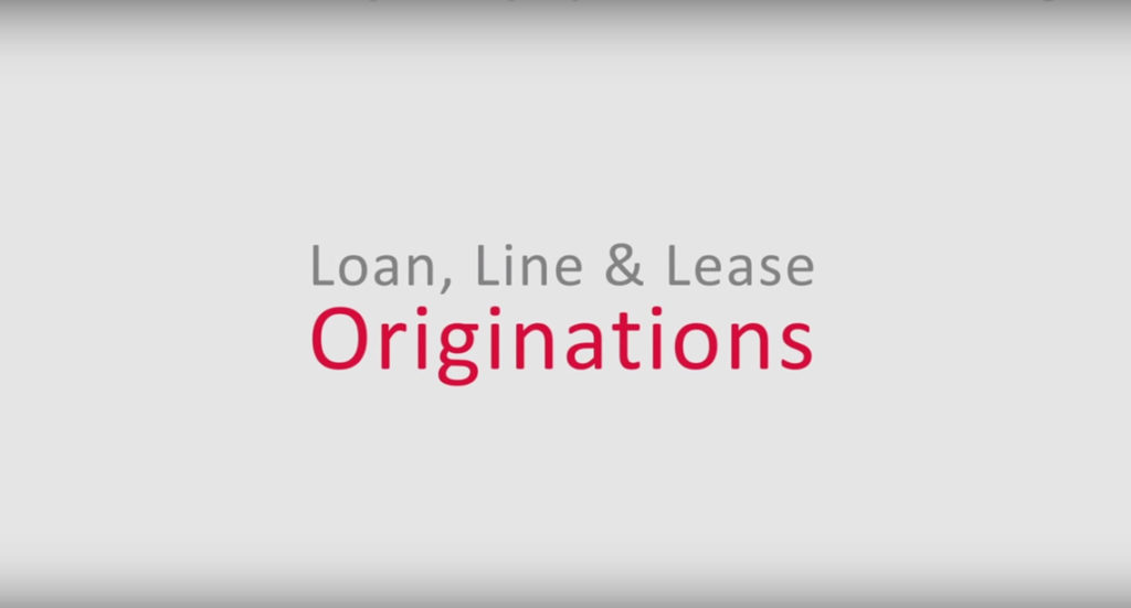 Loan, Line and Lease Originations